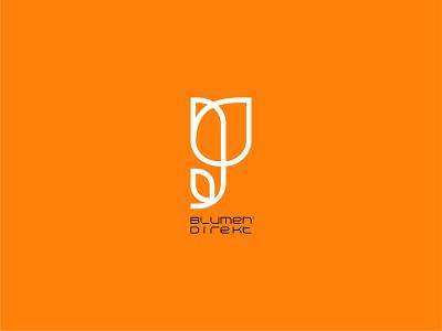 Blumen Direkt Flower Shop design vector illustration minimal graphic design flat brandidentity branding logotype logodesigner logo