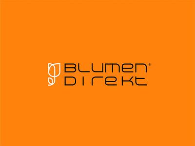 Blumen Direkt Flower Shop ux ui design vector flat minimal graphic design brandidentity branding logobranding logotype logo