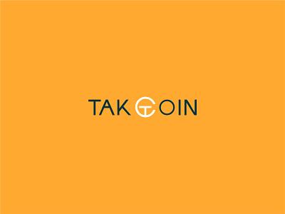 TAKCOIN Logo identity design branding vector minimal illustration graphic design flat hirelogodesigner cryptologo logogdesigner logodesign logo