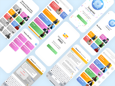 IMHO App colors cards ios netflix medal chatroom chat app chat tv show series icon gradient animation app ui ux design