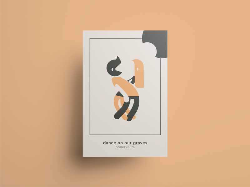 Poster - Paper Route Tribute shapes geometry minimal japan tribute artwork love rock cd dance album music poster illustration design
