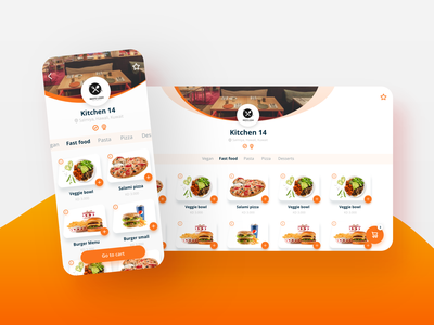 Restaurant menu app cart booking shadow flutter android eat kitchen menu web ios gradient app ux ui design