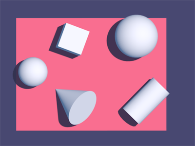 Shapes on a plane cone cylinder sphere cubes geometry shapes cinema4d 3dfordesigners 3d vector graphic design