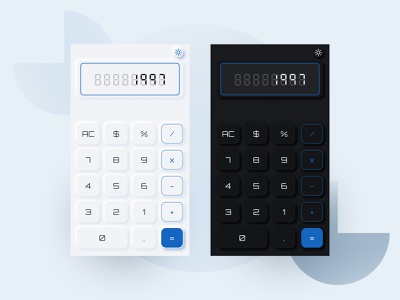 Calculator App - Neumorphism design minimalist ui neumorphism appdesign design trend calculator ui