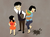 flat family illustration