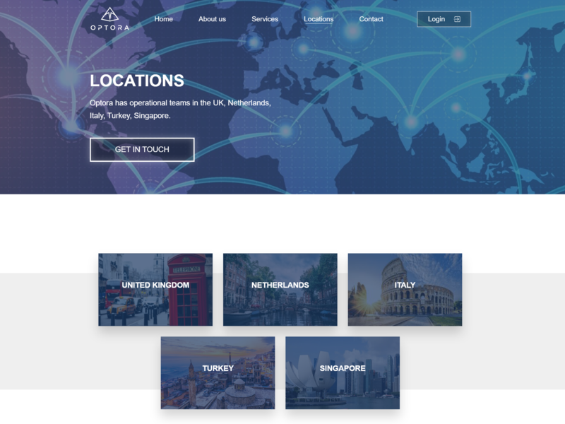 Locations web development desing locations page