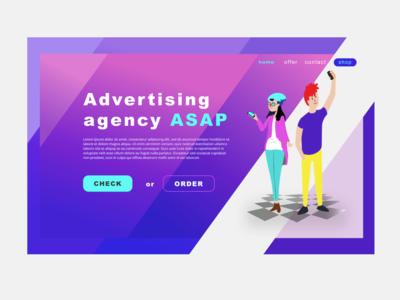 AD agency - prototype ux design graphic art ui web colors palette webdeisgn design ui web ui art