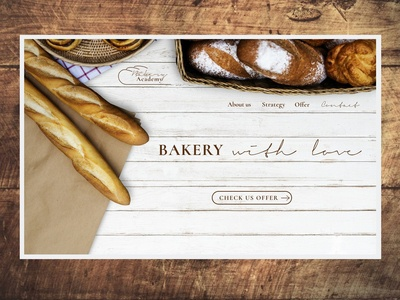 bakery - woody landing page