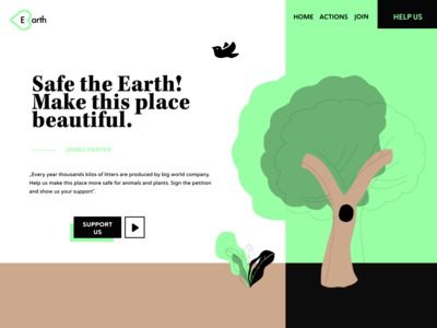 Ecological landing page 🌳🌳🌳