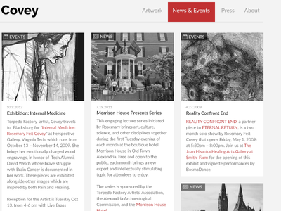 News & Events tiles events news