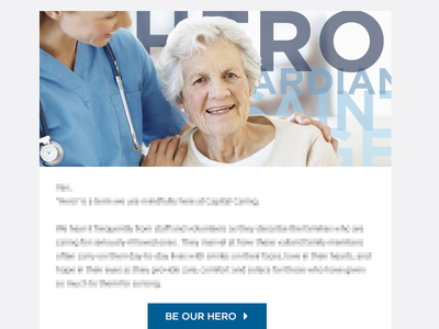 Be Our Hero [Email] nonprofit email hospice hero
