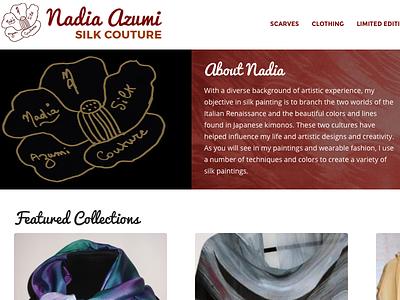 Nadia Azumi Silk couture silk website