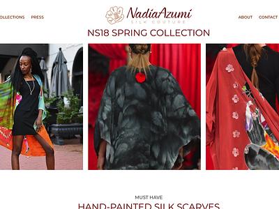 Updated Design for Nadia Azumi website silk couture