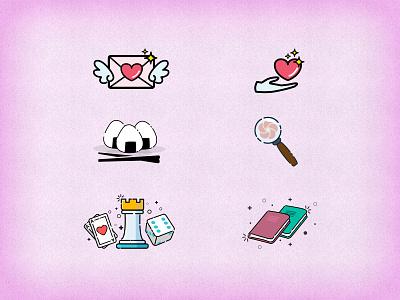 Yatta-Tachi Iconography compilation illustration logo design otaku manga japanese culture japan anime