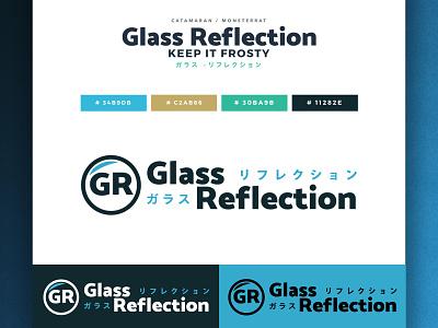 Glass Reflection Channel Logo ReDesign branding logo design otaku manga japanese culture japan anime