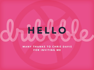 Hello Dribbble! - My First Shot shot welcome drafted hello dribbble first shot