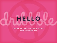 Hello Dribbble! - My First Shot