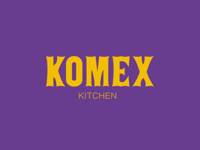 Konmex Kitchen Logo design identity logo branding