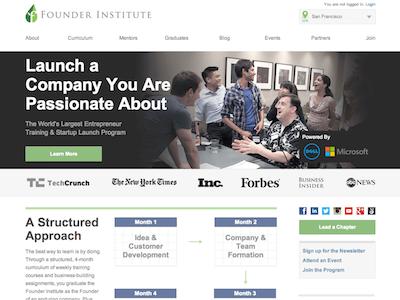 New Founder Institute Website