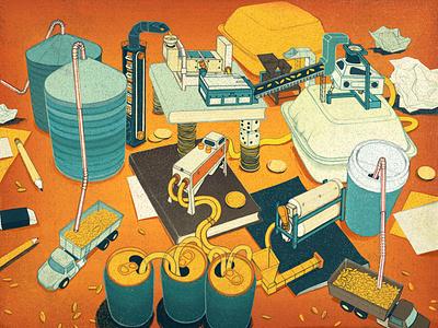 Smarter Sales editorial illustration editorial illustration