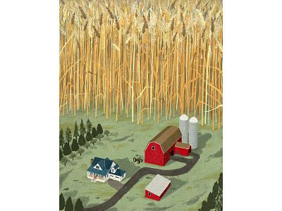 Expensive Acres editorial illustration editorial illustration