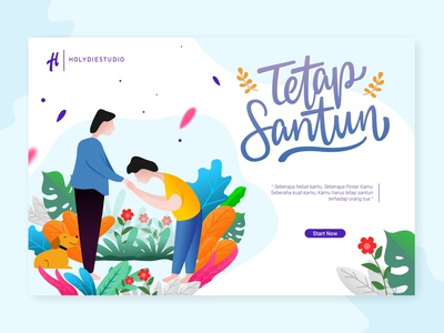 Parents And Children Flat Illustration web website ui vector illustrator illustration flat design