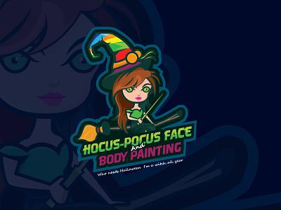 Hocaus Pocus Face design vector logo illustration