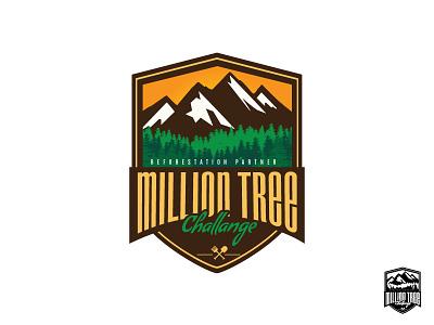 Million Tree vector branding design logo