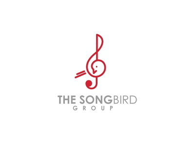 The Song Bird vector branding icon flat design logo