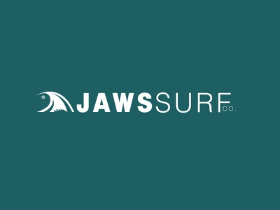 Jaws Surf Co minimal branding icon flat vector design logo