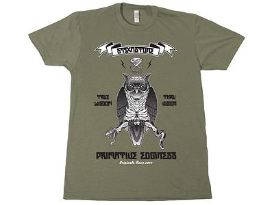 "STIXNSTONE ""Vision"" T-shirt Design merchandise apparel clothing tshirt illustration graphic typography design owl serpant"