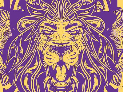 Orlando City Soccer self promotion illustration print lion vector sports neenah cardstock design graphic two color orlando city self promotion