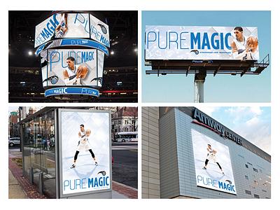 Pure Magic Campaign  nba magic campaign pure orlando photoshop tobias basketball billboard poster design digital display