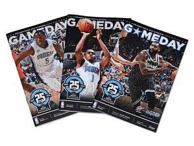 Orlando Magic Gameday Playbill Covers basketball nba print cover photoshop color layout sports orlando magic victor oladipo doron lamb kyle oquinn