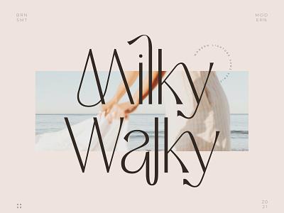 Milky Walky - Ligature Sans Serif social media typography layout invitation typeface modern font logotype logo fonts luxury font fonts ligature font display font sans serif sans