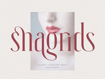 Snagrids || Classy Ligature Serif display font invitation social media ligature ligature font luxury font modern font calligraphy layout typography typeface serif font fonts serif