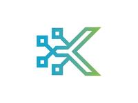 Letter K Technology Logo