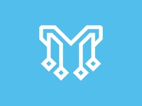 Letter M Technology Logo