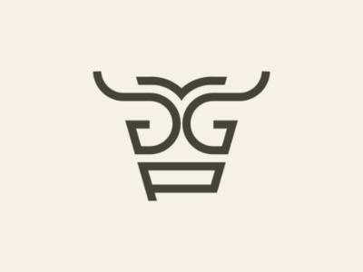 Cow - Letter G & P Logo