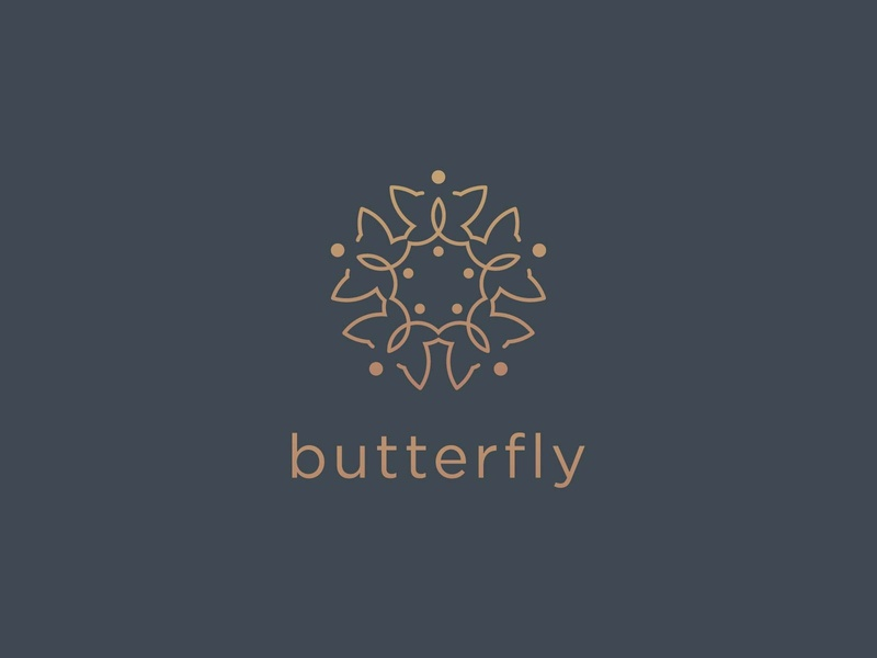 Sophisticated Butterfly Logo beauty accessories nature salon jewelry cosmetics spa feminine luxurious fashion luxury butterfly sophisticated vector logo