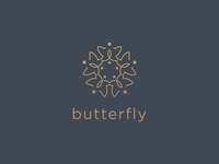 Sophisticated Butterfly Logo