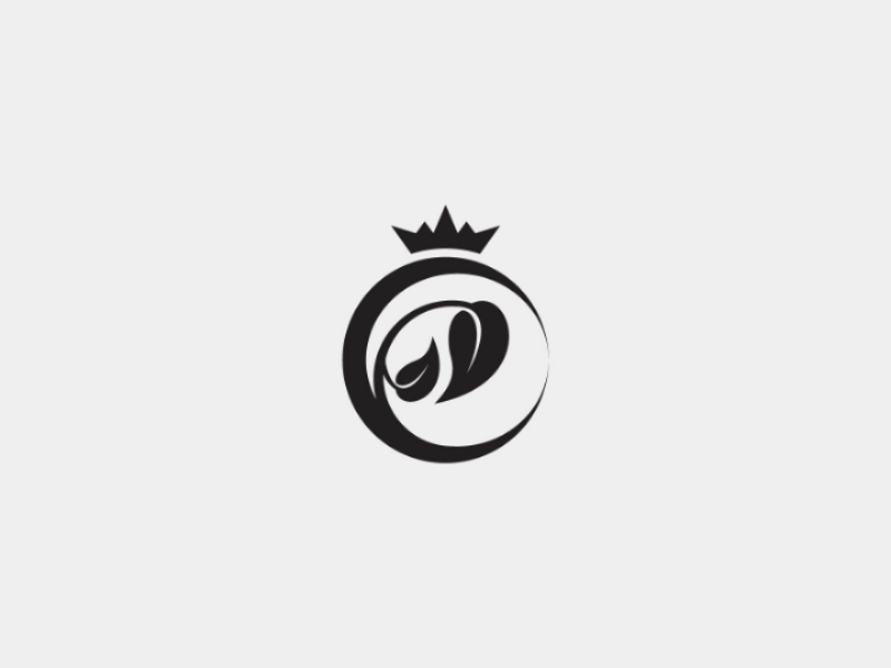 Luxurious Leaf Logo queen salon sophisticated crown beauty jewelry cosmetics spa luxurious luxury leaf vector logo