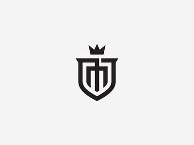 M Shield Logo crown law royal building castle classic modern security luxury m logo initial m shield m vector logo