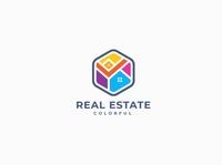 Colorful Real Estate Logo