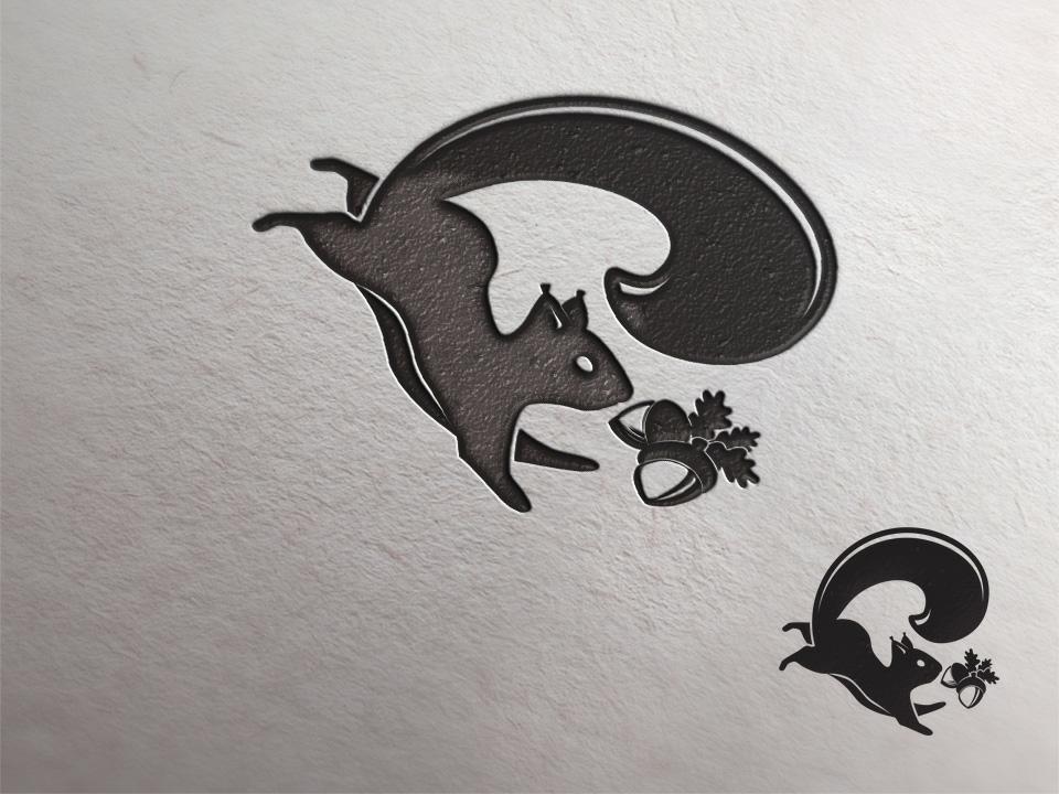 squirrel vector animal illustration logo