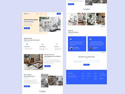 InteriorLog | Interior Landing page UI design web website typography icon illustration ux animation flat ui app