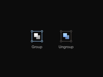 Group & Ungroup / Motion icon motion