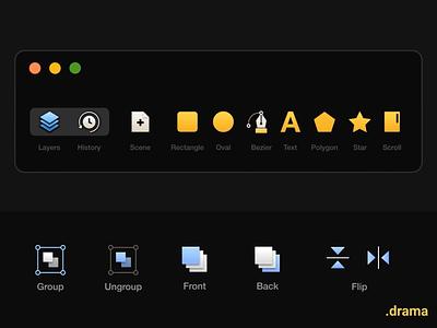 drama tools / animation drama app icon motion animation