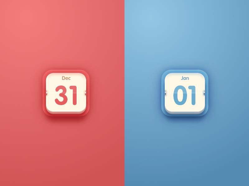 Calendar Design Icon : New year calendar icon by magic chen dribbble