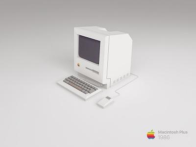 Macintosh Plus computer apple c4d macintosh plus mac nostalgia